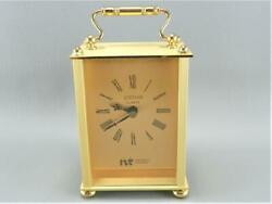 JOSTENS Northern Telecom Quarts Brass Banker Desktop Shelf Mantel Carriage Clock