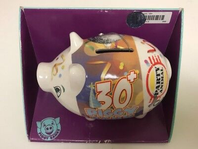 Piggy Bank Parties (New Piggy Banks, Ceramic Piggy Bank 30+ Party Animal Birthday Gift,)