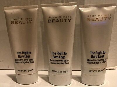 JOAN RIVERS BEAUTY RIGHT TO BARE LEG 3 OZ Medium New AND SEALED sold in lot of 3