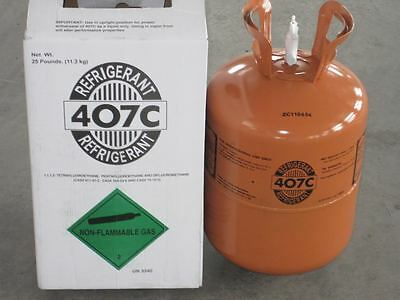 R407c-refrigerant -25 Lb Cylinder Lowest Price On Ebay Factory Sealed