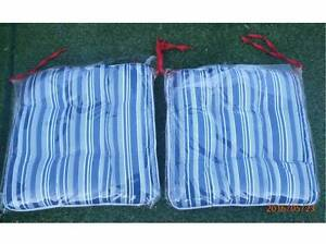 White Blue Reversible  Nautical Stripes French Country Chair Pad Terrigal Gosford Area Preview
