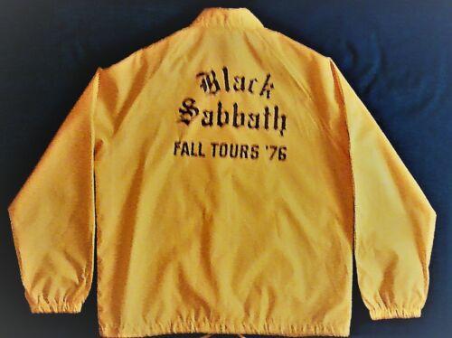 "Vintage ""Black Sabbath Fall Tour 76"" Stage Crew Wind Breaker"