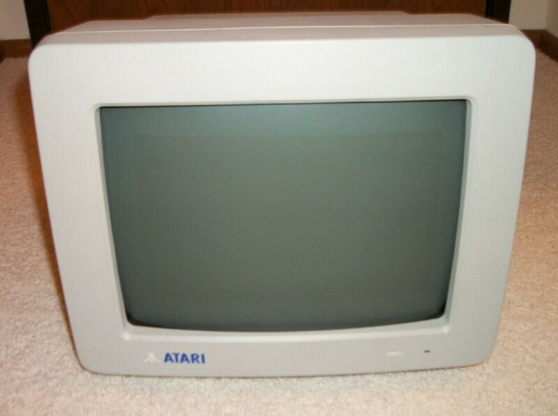 Atari SM124 Monochrome Computer Monitor-fine condition