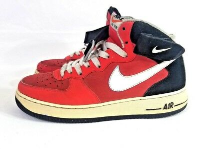 best cheap 7d908 3f3f3 Nike Air Force 1 Mid Utility LV8 University Red Black AV3803-600 Size 4Y-13  New ...