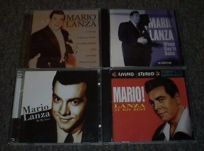 4 Mario Lanza CDs~The Voice Of~At His Best~Be My Love~When Day Is Done~FAST