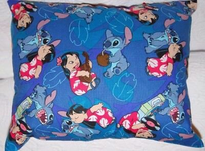 DISNEY HANDMADE LILO AND STITCH MINI  TRAVEL / TODDLER   PILLOW @@