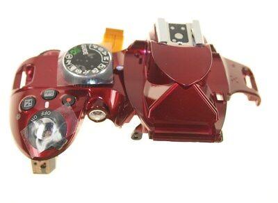 NIKON D3200 DSLR CAMERA TOP COVER UNIT RED GENUINE NEW 1F999-380