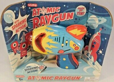 Retro Space Gun ( Atomic Raygun Schilling Tin Metal Blaster Laser Ray gun Space Toy)
