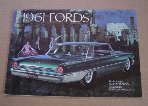 Original 1961 Fords Sales Catalog Brochure Fairlane Galaxies Starliner Sunliner