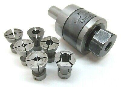 Hardinge Tt Releasing Tap Holder W 58 Shank 6 Collet Set - Tt-58