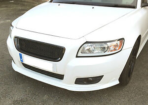 MESH Sport Grill Grille GLOSSY BLACK ABS for VOLVO S40 V50 2008 - 2012 FACELIFT