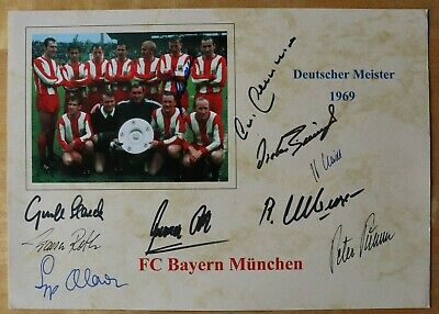 FC Bayern Meister 1969: Beckenbauer Maier Roth Schwarzenbeck Olk... 10 Originale