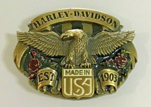 Harley Davidson Buckle - Vintage Harmony Design 1989 Eagle Brand NEW- USA Made
