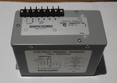 Ametek Scientific Columbus 6284pa7a4 55-65 Hz Exceltronic Frequency Transducer