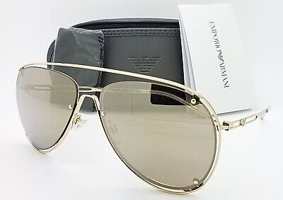 Emporio Armani sunglasses EA2073 30135A 63mm Light Brown Gold Mirror (Emporio Sunglasses)