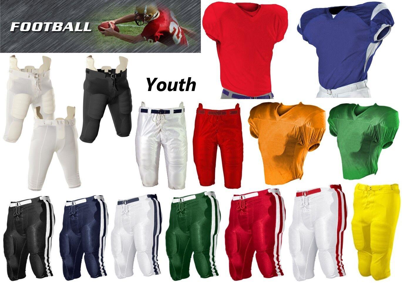 Boy's Youth Sizes S-XL Football Jerseys & Pants
