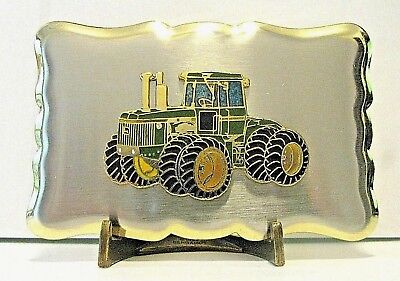 John Deere 9620 9520 9420 9320 9220 4WD Tractor Belt Buckle jd farm Silver Gold
