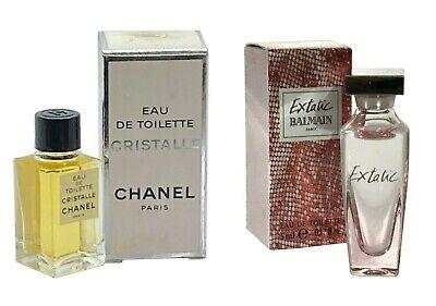 Miniature CHANEL Cristalle 4ml EDT Balmain Extatic 5ml EDT Women