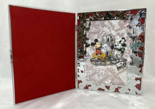 Disney 2002 Cast Member Holiday Celebration Folding Picture Frame Mickey Mouse