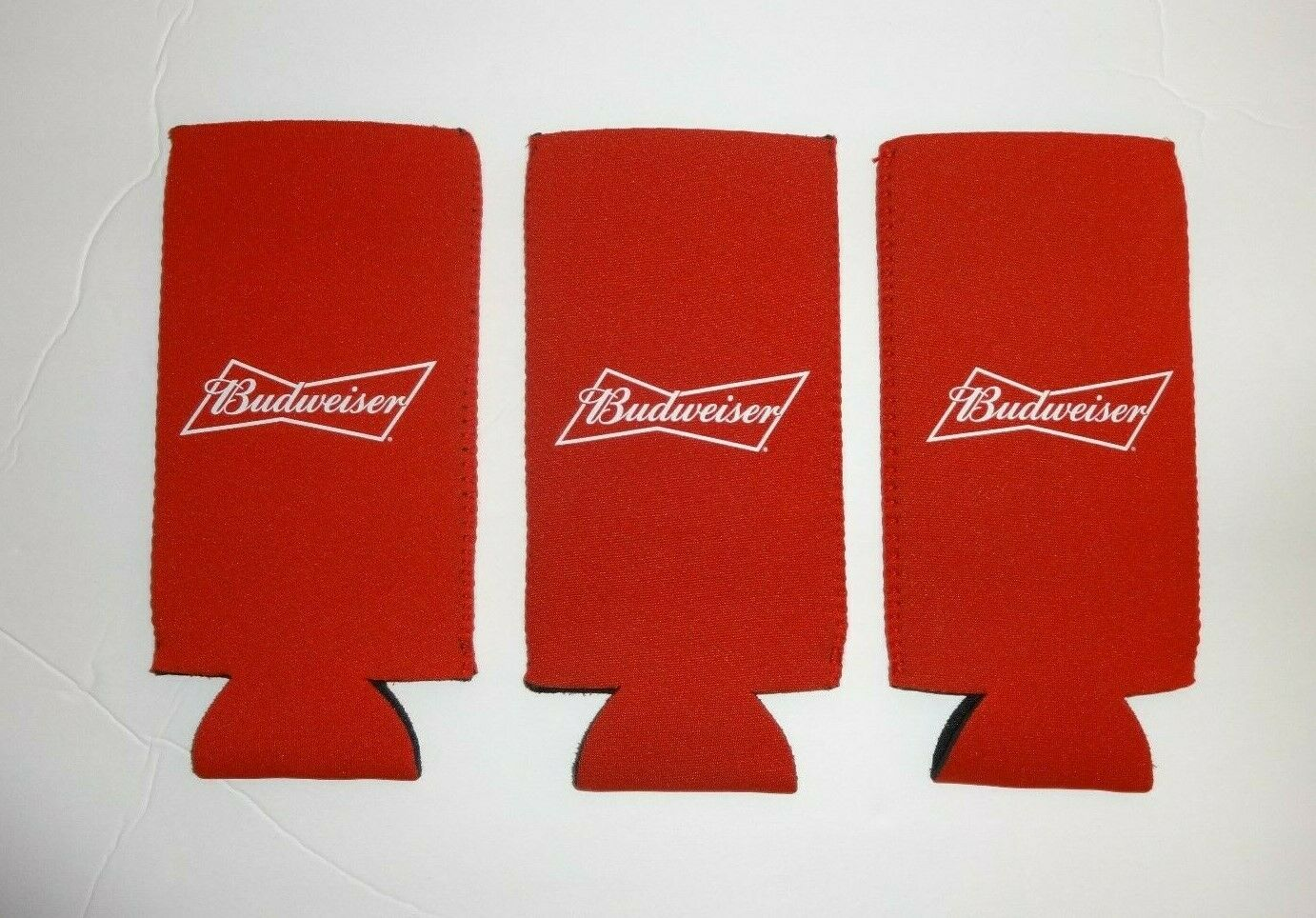 "Lot of 3 Red Budweiser ""This Bud's For You"" Beer Bottle Can"