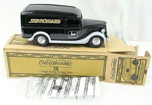 ERTL COLLECTABLES vintage 1936 FORD panel truck diecast metal bank JOHN DEERE