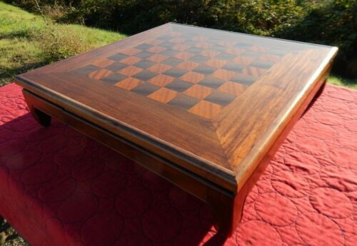 RARE VTG CHINESE MING CHESS BOARD TABLE WALNUT GORGEOUS MID-CENTURY MODERN
