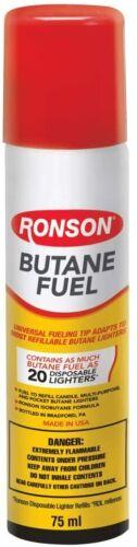 Genuine Ronson Butane 78 gram 2.75 oz. Lighter Fluid Premium Fuel 99144 NEW
