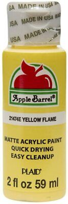 Apple Barrel Acrylic Paint in Assorted Colors (2 oz), 21474, Yellow Flame Draw