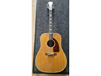 Vintage Epiphone FT110 N Frontier Acoustic Guitar 1968 Amber Natural plus hard generic Case