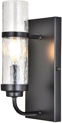 Black Metal Wall Sconce Light Fixture Modern Vanity Mount Glass Indoor Bubble  Black Wall Mount Vanity