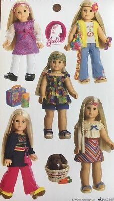 American Girl Historical Doll Julie & nutmeg Sticker Sheet Cute crafts favor