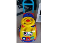 Disney Mickey Mouse Club House Musical Gears Activity Ride On Car Toy Fun Sounds