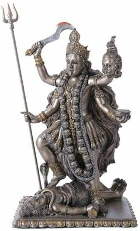 Kali Bhavatarini Statue Decorative Hindu Goddess of Time and Death Figurine