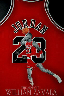 Hand Painted Jersey. By William Zavala. Michael Jordan, Kobe Bryant, ANY PLAYER!