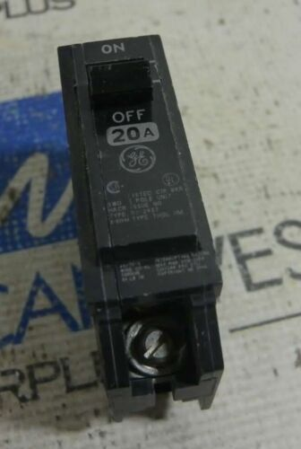 GE General Electric THQL1120HM 1 Pole 20A High Magnetic Circuit Breakers