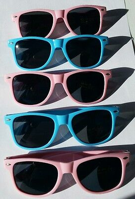 Qty 10 Gender Reveal Party Sunglasses Pink Baby Blue Costume Party Girl Boy NEW