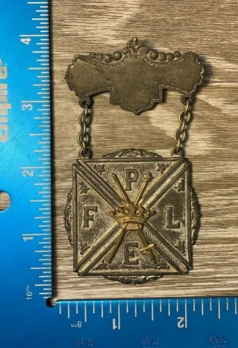 Vintage Knights of Pythias Pin Badge Medal FPLE 101A