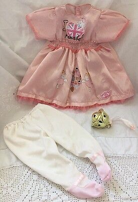 Zapf Creation Germany BABY ANNABELL Doll DRESS Ballet Shoe Tights ROSE RATTLE for sale  Canada