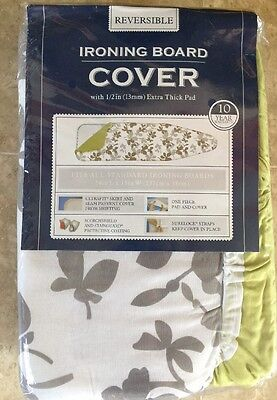 """BBB Homz Reversible  Extra-Thick (1/2"""") Ironing Board Cover & Pad 15W"""" x 54L"""""""