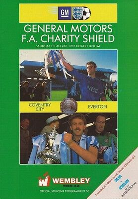 * 1987 CHARITY SHIELD - EVERTON v COVENTRY CITY *