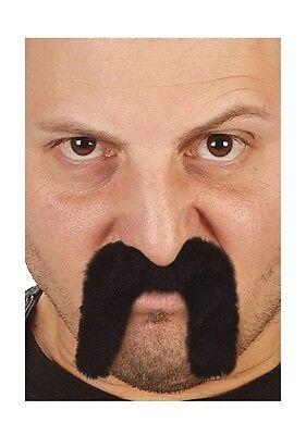 Black Fu Man Chu or Cowboy Moustache Asian Mustache Facial Hair Fu Manchu NEW ](Asian Cowboy)