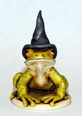 Harmony Kingdom Artist Neil Eyre EyreDesigns Halloween Tree Frog Witch Hat