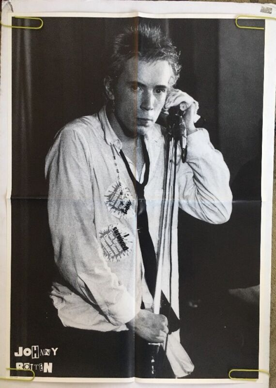 Vintage Poster Sex Pistols Johnny Rotten Pin-up 80