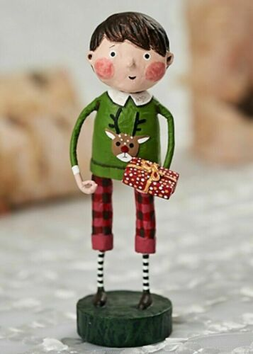 LORI MITCHELL ~ Gift Exchange Boy ~ Folk Art Christmas Figure