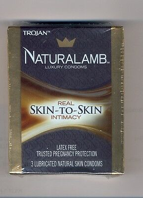 TROJAN NaturaLamb Luxury Condoms 7 packs Latex Free Real Skin To Skin  ()