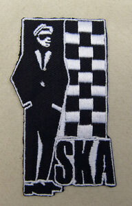 SKA  C/O  Embroidered  Iron Sew  On Patch  2 Tone mods rockers retro