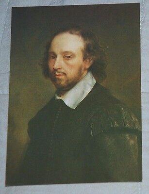 Postcard - Gerard Soest Portrait of William Shakespeare