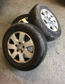 4x Genuine 16' VW T5 wheels, tyres & bolts