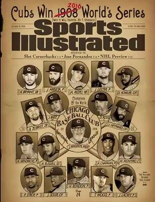Chicago Cubs Sports Illustrated October 10  2016 No Mailing Label World Series