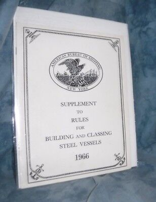 Rules For Building and Classing Steel Vessels American Bureau of Shipping (Rules For Building And Classing Steel Vessels)